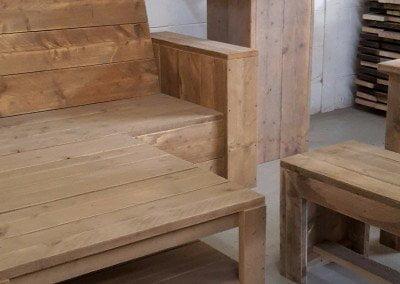3108 Design Houten bank en tafel