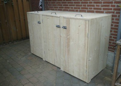 Klikokast houten ombouw voor duocontainer of duobak 3108 Design (2)