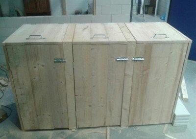 Klikokast houten ombouw voor duocontainer of duobak 3108 Design